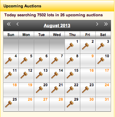Auctions in august